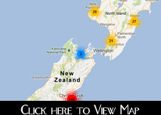 Map of New Zealand Christmas Lights